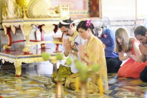 Bangkok Temple Buddhist Blessing Package : Claudia + Jannick