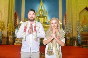 Bangkok Temple Buddhist Blessing Package : Ione + John
