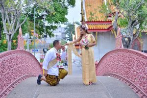 Bangkok Temple Buddhist Blessing Package : May + Edison
