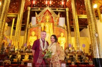 Chiang Mai Temple Buddhist Blessing Package : Jeryl + Kevin