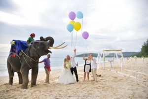 Phuket Beach Elephant Wedding Package : Maria + Twan